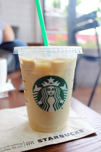 Cup of Iced Coffee in Starbucks