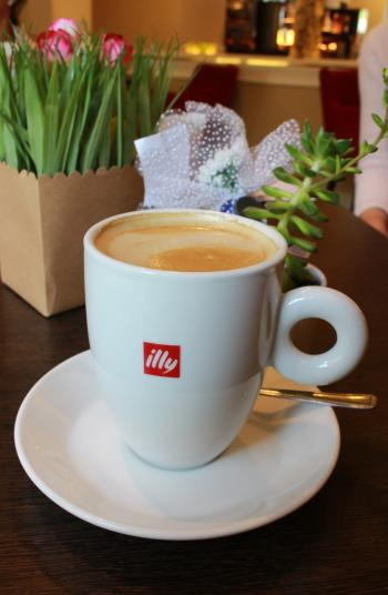 Cup of Illy Branded Coffee