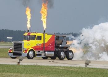 Custom Jet Propelled Truck