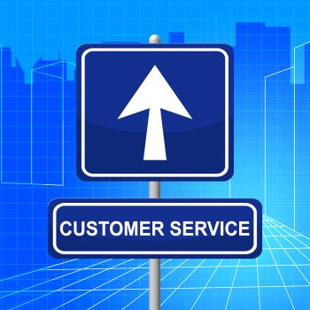 Customer Service Represents Help Desk And Advertisement