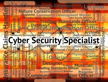 Cyber Security Specialist Shows World Wide Web And Employment