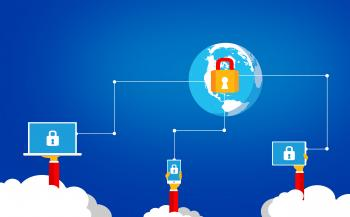 Cybersecurity in the cloud - Online security concept