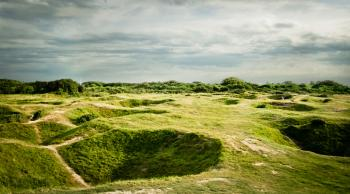 D'day bomb craters