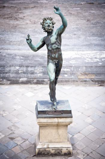 Dancing Faun statue, House of the Faun,