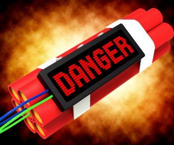 Danger Dynamite Sign Means Caution Or Dangerous