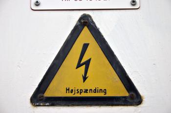 Danish High Voltage Sign