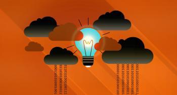 Dark Clouds - Virtual Clouds and Bright Light Bulb
