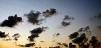 Dark evening sky