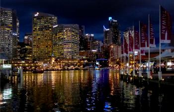 Darling Harbour Evening.Sydney.