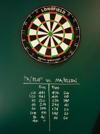 Dartboard darts game