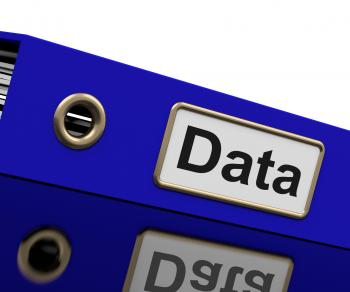 Data Storage Indicates Hard Drive And Administration