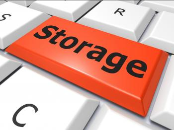 Data Storage Indicates Hard Drive And Archive