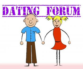 Dating Forum Shows Group Discussion And Sweethearts