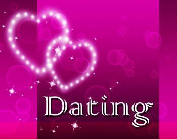 Dating Hearts Represents Romantic Romance And Sweetheart