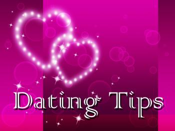 Dating Tips Represents Partner Romance And Sweethearts