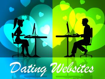 Dating Websites Means Dates Network And Date