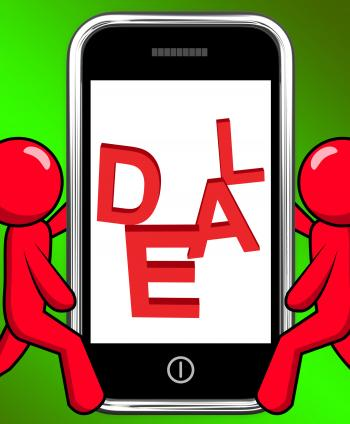Deal On Phone Displays Agreement Deals Or Contract