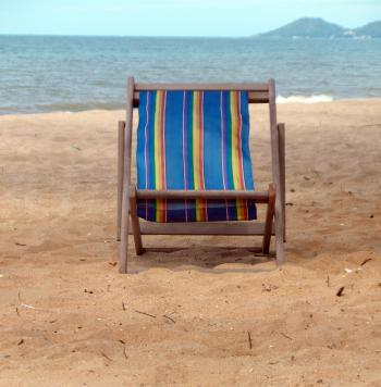Deckchair on a Tropical Beach