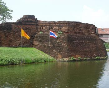Defensive wall and moat of Chiang Mai