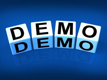 Demo Blocks Indicate Demonstration Test or Try-out a Version