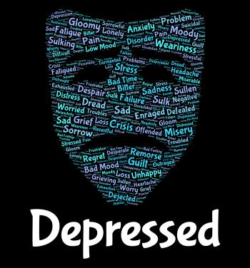 Depressed Word Means Despair Words And Text