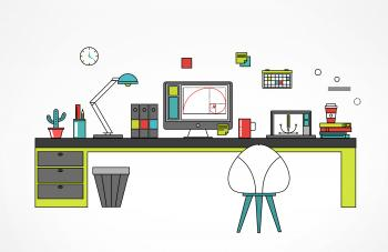 Designer Workspace - Creative Jobs Concept
