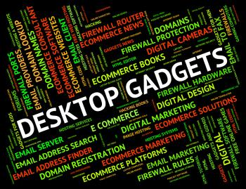 Desktop Gadgets Represents Mod Con And Appliance