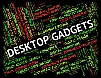 Desktop Gadgets Represents Mod Con And Appliance