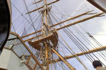 Detail on sailer