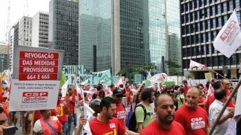 Dia Nacional de Lutas por direitos e empregos em SP