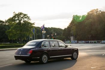 Die Queen auf dem Weg ins Schloss Bellevue