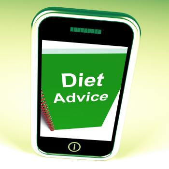 Diet Advice on Phone Shows Healthy Diets