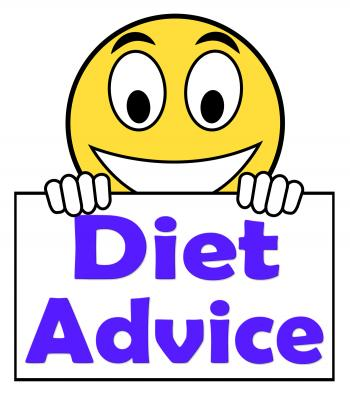 Diet Advice On Sign Shows Weightloss Knowledge