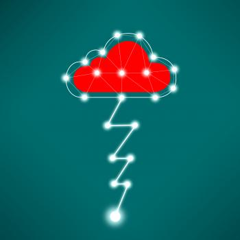 Digital Cloud Concept with Lightning
