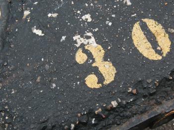 Dirty asphalt