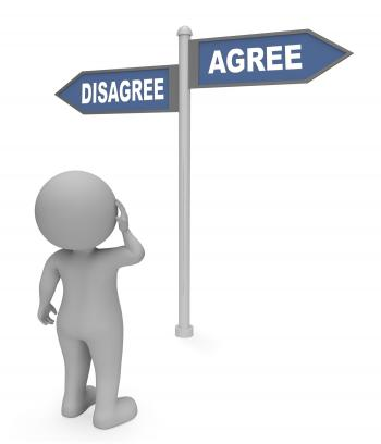 Disagree Agree Sign Indicates All Right And Agreeing 3d Rendering