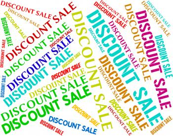 Discount Sale Represents Words Clearance And Cheap