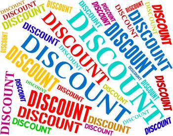 Discount Words Represents Promotion Promo And Bargain