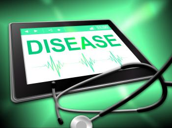 Disease Tablet Means Sick Disorder And Tablets