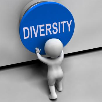 Diversity Button Means Variety Difference Or Multi-Cultural