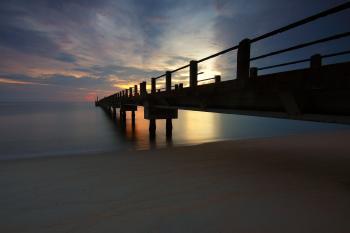 Dock Photo during Sunrise