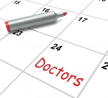Doctors Calendar Means Medical Consultation And Prescriptions