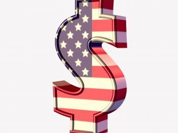 Dollar 3D text