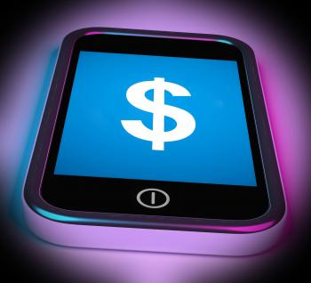 Dollar Sign On Mobile Shows  Currency