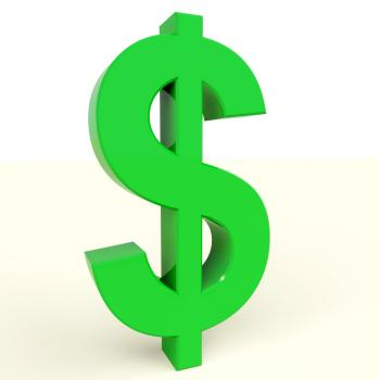 Dollar Symbol Showing Money Or Investment In The Usa