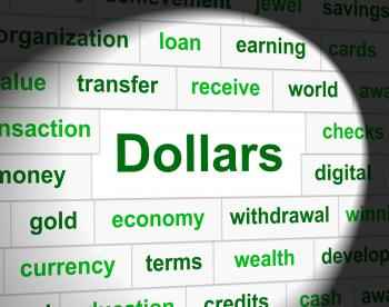 Dollars Finances Shows Bank Investment And Usd