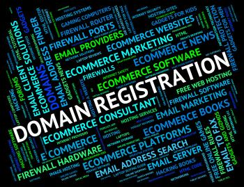 Domain Registration Indicates Sign Up And Application