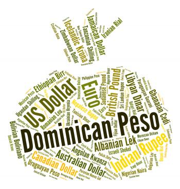 Dominican Peso Represents Currency Exchange And Coin