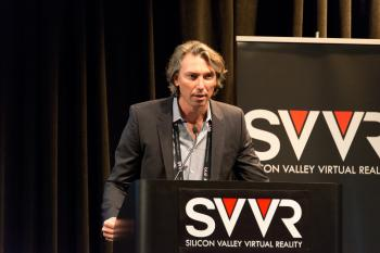 Don Bland from Sixense giving 60 Second Pitch at SVVR (2)