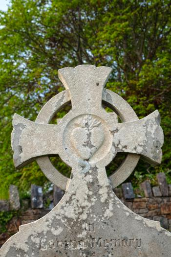 Donegal Cemetery Celtic Cross - HDR
